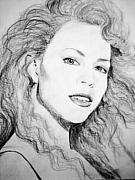 Mariah Carey Drawings - Mariah by TerryAnne Groehler