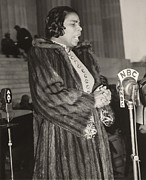 Segregation Posters - Marian Anderson 1897-1993, At A Nbc Poster by Everett