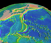 Trench Photos - Mariana Trench Sea Floor Topography by Us Geological Survey
