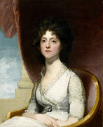 White Dress Posters - Marianne Ashley Walker Poster by Gilbert Stuart