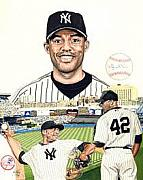 New York Yankees Mixed Media - Mariano Rivera by Neal Portnoy