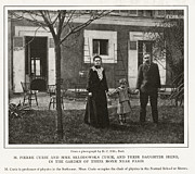 Discovered Photo Prints - Marie And Pierre Curie, French Print by New York Public Library