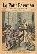 Treatment Framed Prints - Marie And Pierre Curie In Laboratory Framed Print by Science Source