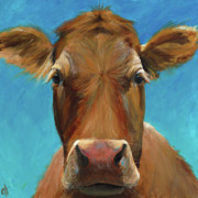 Close Up Painting Metal Prints - Marie  Metal Print by Cari Humphry