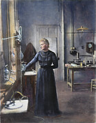 1908 Framed Prints - Marie Curie (1867-1934) Framed Print by Granger