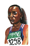 Sports Drawings - Marie Jose Perec by Emmanuel Baliyanga