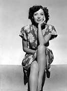 Hand On Chin Acrylic Prints - Marie Windsor, 1942 Acrylic Print by Everett