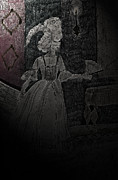 Haunting Drawings Posters - Maries Ghost Poster by First Star Art
