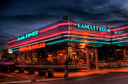 Photographers College Park Posters - Marietta Diner Poster by Corky Willis Atlanta Photography