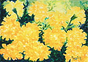 Phong Trinh Metal Prints - Marigold Fever Metal Print by Phong Trinh