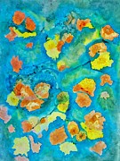 David Raderstorf - Marigolds on Blue