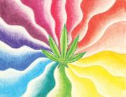 Marijuana Swirl Print by Matt Crux