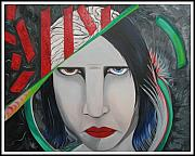 Marilyn Manson Framed Prints - Marilyn Framed Print by Aimee Vance