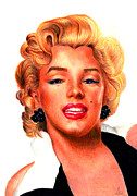 Star Pastels Metal Prints - Marilyn Metal Print by Alessandro Della Pietra