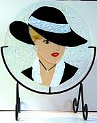 Circle Glass Art - Marilyn by Bobbie Matus