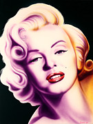 Silver Screen Legends Paintings - Marilyn by Bruce Carter