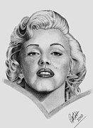 Icon Drawings Posters - Marilyn Poster by Chris Cox