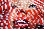 All-star Framed Prints - Marilyn Flag Framed Print by Lewis Lang