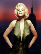 Celebrities Digital Art - Marilyn Forever by Virginia Palomeque