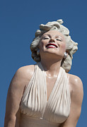 Woman Framed Prints Posters - Marilyn in the Sun Poster by Matthew Bamberg