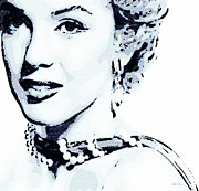 Some Like It Hot Prints - Marilyn Print by Jeff Adkins