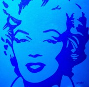 Marilyn Monroe Framed Prints Posters - Marilyn Poster by John  Nolan