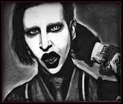 Marilyn Manson Framed Prints - Marilyn Manson Framed Print by Derek Rickard