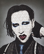 Marilyn Manson Framed Prints - Marilyn Manson  Framed Print by Butter Fly