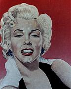 Star Drawings Metal Prints - Marilyn Metal Print by Maria Arango