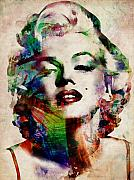Star Digital Art Posters - Marilyn Poster by Michael Tompsett