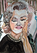 Icons Painting Originals - Marilyn Monroe - O7 by John Kelting