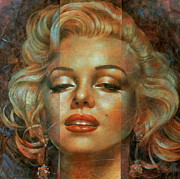 Portrait Paintings - Marilyn Monroe by Arthur Braginsky