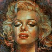 Артур Брагинский - Marilyn Monroe, 80х80 см, масло, холст, 2012.