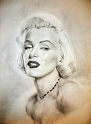 Actors Painting Originals - Marilyn Monroe by Attila Paszternak