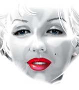 Eyes Mixed Media Metal Prints - Marilyn Monroe Metal Print by Brian Gibbs