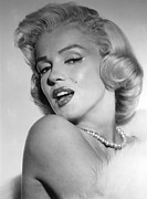 Bare Shoulder Framed Prints - Marilyn Monroe, Ca. Mid 1950s Framed Print by Everett