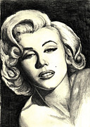Sketch Paintings - Marilyn Monroe by Debbie DeWitt