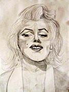 Phil Donahue Drawings Posters - Marilyn Monroe Poster by Donald William