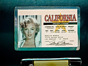 Photographs Mixed Media Originals - Marilyn Monroe Driver Licence by Dennis Dugan