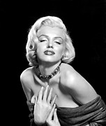 Bare Shoulder Photo Prints - Marilyn Monroe Print by Everett