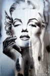 Black Paintings - Marilyn Monroe by Fatima Azimova