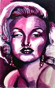 1950s Portraits Painting Prints - Marilyn Monroe Print by Hannah Chusid
