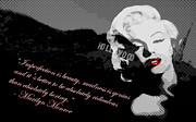 Hollywood Digital Art Metal Prints - Marilyn Monroe Imperfection is Beauty Metal Print by Brad Scott
