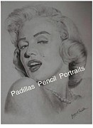 Celebrity Portraits Pastels - Marilyn Monroe by Jerry Padilla