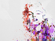 Watercolor Prints - Marilyn Monroe Print by Irina  March