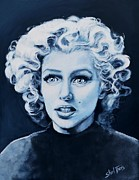 Superstar Painting Posters - Marilyn Monroe Poster by Shirl Theis