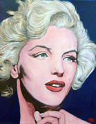 Movie Star Painting Originals - Marilyn Monroe by Tom Roderick