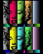 Robert R Splashy Art - Marilyn Monroe TV TEST...