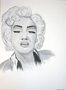 Marilyn Munroe Paintings - Marilyn Munroe by Anastasia May