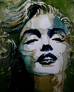 Icon Painting Acrylic Prints - Marilyn no10 Acrylic Print by Paul Lovering